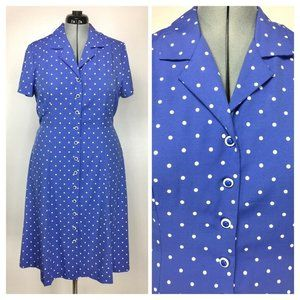 Vintage Dressbarn Retro Pinup Polka-Dot Day Dress